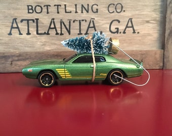 1974 Dodge Charger Carrying Christmas Tree Ornament