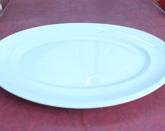 Vintage Johnson Brothers White Ironstone Platter England Johnson Bros Platter