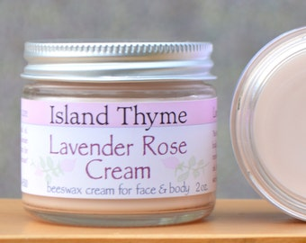 Lavender Rose Deep Moisturizing Cream.  The ultimate rich cream for dry skin, with shea butter, sweet almond oil, rose water & lavender oil