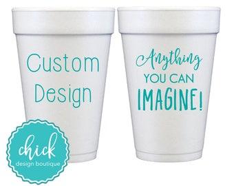 Create Your Own Custom 20 oz Foam Cup Wedding Favors Fun Wedding Party Gifts Wedding Anniversary Party Custom Beverage