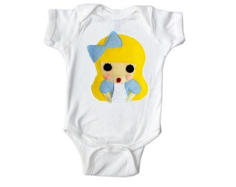 Alice - Alice's Adventure in Wonderland - Infant Bodysuit- Baby Clothing - Gift