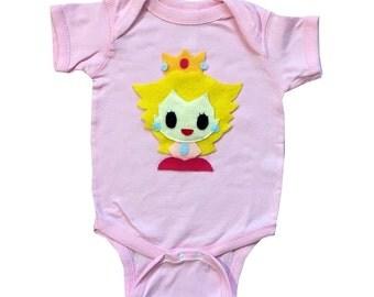 Peach - Kids Light Pink Baby Bodysuit - Children's Clothing - Gift