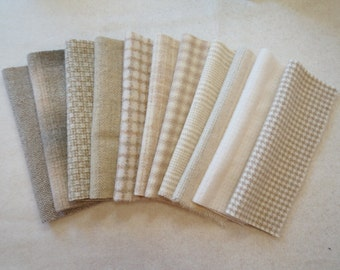 Natural - Neutral - Cream Felted Wool Fabric Perfect For Rug Hooking and Applique 6050