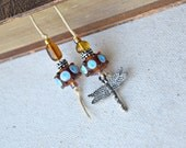 Beaded Bookmark - Dragonfly Book Thong - Dragonfly Charm Bookmark