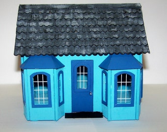 Greenleaf Store, Shop, House, Dollhouse, Miniatures, ,Handcrafted, Gift Box, Miniature Village, Carriage House, Free Shipping, Home, Decor
