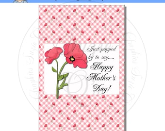 Mother's Day Popcorn Wrapper - Digital Printable - Immediate Download