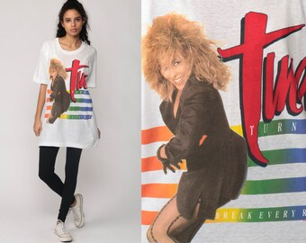 Tina Turner Shirt 80s Band Shirt BREAK EVERY RULE 1987 Concert Tshirt Tour T Shirt Tshirt Rock Tour Vintage 1980s Burnout Tee Large