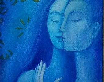 Blue Kiss, Original Painting