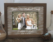 Blended Family Unity Sand Ceremony Set in Barnwood Shabby Chic