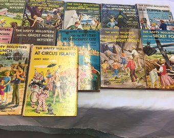 HAPPY HOLLISTERS and the MYSTERY of the Midnight Trolls and 17 More! Vintage Childrens Book Collection! at A Vintage Revolution
