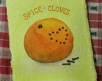 Spice Cloves - Small, Original Watercolour
