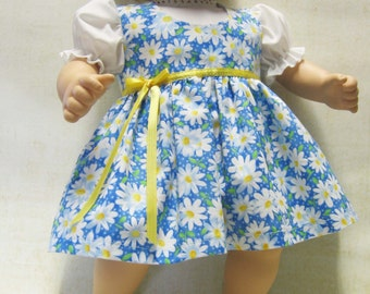 Blue Daisy Jumper and Blouse for Bitty Baby Doll