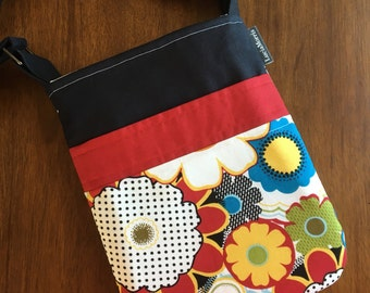 Cross Body Adjustable Strap - Flowers - Tote - Ready to Ship