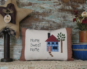 Home Sweet Home - Country Primitive Decorative Pillow