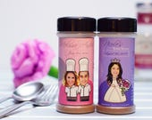 30 Wedding Favor Spice Bottles - Personalized Empty Spice Bottles with Custom Label  - (bottles only, no spices)