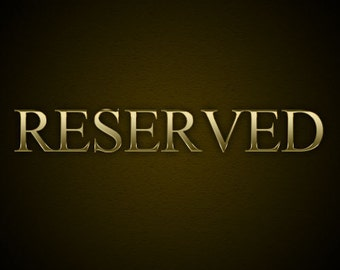 Reserved for Kelsey - Payment 2