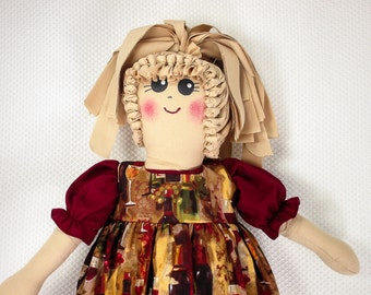 Plastic Bag Holder Doll, Grapes and Wine Bottles, Grocery Bag Holder, Rustic Kitchen, Rag Doll, Kitchen Accent, Kitchen Storage, Prim Decor
