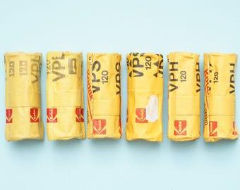6 rolls expired Kodak Color Negative Medium Format 120 Film VPS VPH VPL
