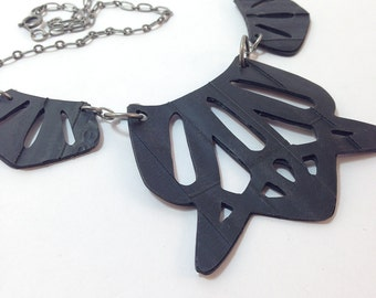 3-Piece Cutout Necklace - Bicycle Inner Tube