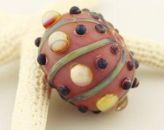 Lampwork Glass Hollow Bead Sea Urchin Sea Shell Focal Ocean Beach Seashell