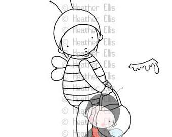PI 090 Pure Innocence, digi stamp, Bee, honey