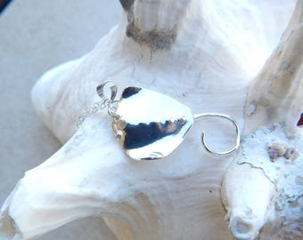 """Stingray Necklace Sterling Silver """"Southern"""" Stingray Pendant with chain"""