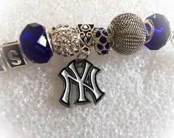 New York Yankees Baseball inspired handmade jewelry bracelets