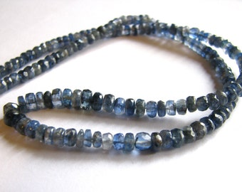 Kyanite faceted rondelles, full strand 15 inches, 3.5-5.25mm (w54)