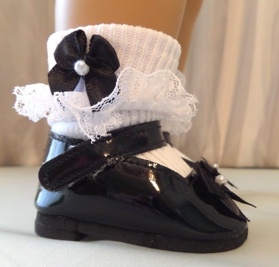 Madame Alexander Doll Black Shoes White Socks