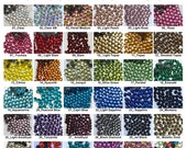 1440 pcs SS6/2mm DMC Iron On Hotfix Hot Fix Glass Crystal Rhinestone FREE US Ship Clear Green Pink Blue Yellow Red Purple LR884