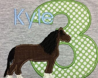 GreatStitch Draft Horse Birthday Shirt