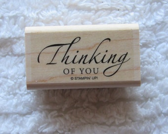 Stamp for Scrapbooking or Card Making- Thinking Of You- Rubber Stamp