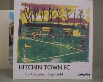 Hitchin Prints Card: Hitchin Town FC