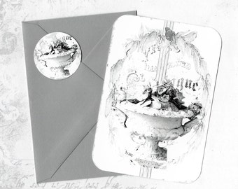 Note Cards, French Urn, Farmhouse Style, Antique Urn, French, Stickers,