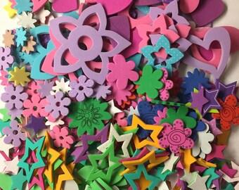 Flowers Stars Hearts Leaves Foam Shape/Stickers Scrapbook Planner Card Making