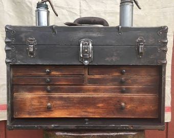 Restored Antique Machinist Tool Chest/ Apithecary