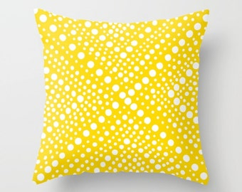 OUTDOOR Throw Pillow - Yellow Outdoor Pillow Cover - White Modern Geometric Outside Pillow - 16 18 20 inch Yellow Throw Pillow Patio Cushion