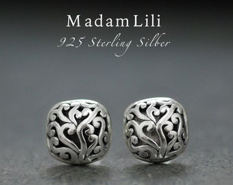 925 sterling silver ear studs - Live Pleasure