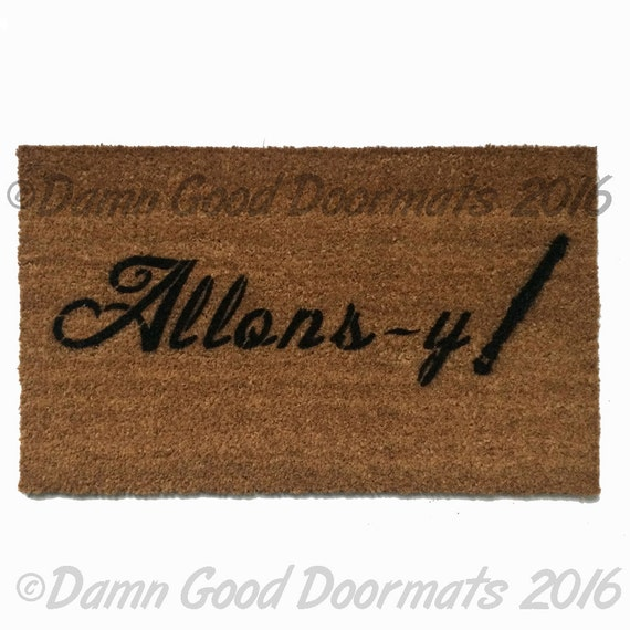 Allons y who doormat geekery fan art doormat geek stuff - Geeky doormats ...
