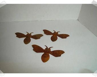 Rusty Metal Bees/Set of 3/Craft Supplies*