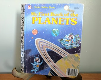 My First Book of the Planets, Little Golden Book, 1985, By Elizabeth Winthrop, Hardback Children's Book, Space