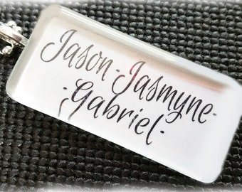 Simply Beautiful - Personalized Glass tile Mother's / Grandmother's Necklace