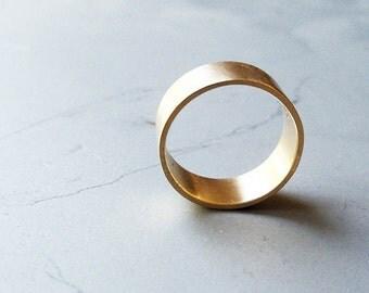 14k Gold Wedding Ring / Gold Handmde Ring / Basic Gold Ring / Classic Wedding Ring / Wedding Band / Unisex Wedding Ring / Basic Ring
