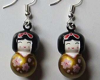 Japanese doll earrings
