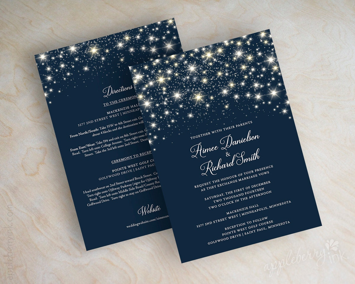 star wedding invitations navy blue wedding invitations With navy evening wedding invitations