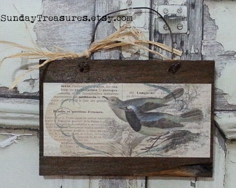 CLEARANCE Beautiful Bird Wood Sign / Reclaimed Wood / Rustic / Ready to Ship