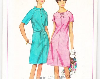 Vintage 1966 Simplicity 6896 Sewing Pattern Misses' One-Piece Dress Size 12 Bust 32