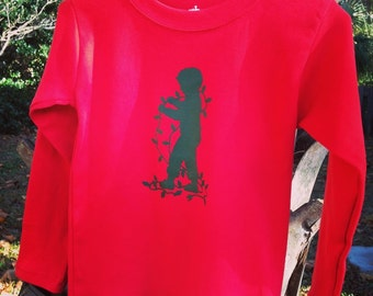 In the Lights by Nostalgic Graphic Tees in Red with Forest