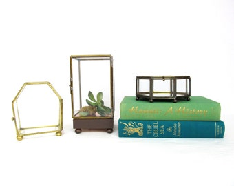 Vintage Grass and Brass Box Instant Collection, Tall Rectangle, Octagon, Hexagon, Polygons,