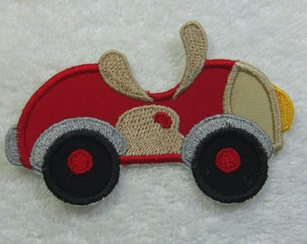 Little Convertible Fabric Embroidered Iron On Applique Patch Ready to Ship